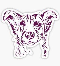 Cute stylized collie type dog Sticker