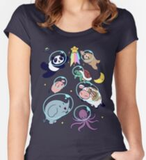 Space Animals! Women's Fitted Scoop T-Shirt