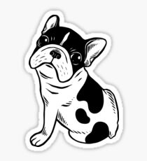 Brindle Pied Frenchie Puppy Sticker