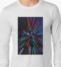 blue crazy christmas lights Long Sleeve T-Shirt