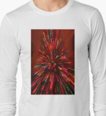 red crazy christmas lights Long Sleeve T-Shirt