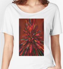 red crazy christmas lights Women's Relaxed Fit T-Shirt