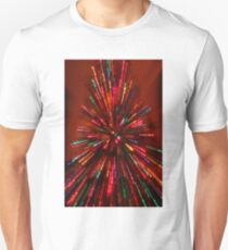 red crazy christmas lights Unisex T-Shirt