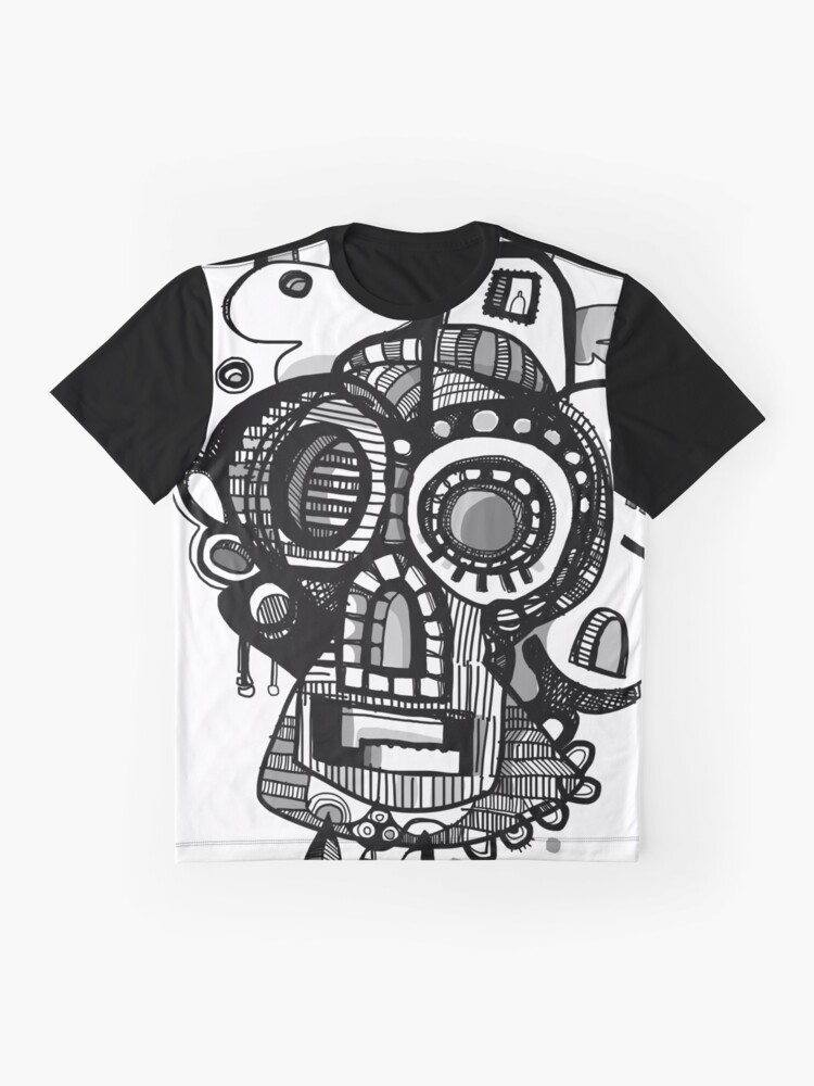 Alternate view of Sugar Skull - Teeth Grinder Graphic T-Shirt
