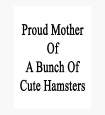Proud Mother Of A Bunch Of Cute Hamsters  Photographic Print