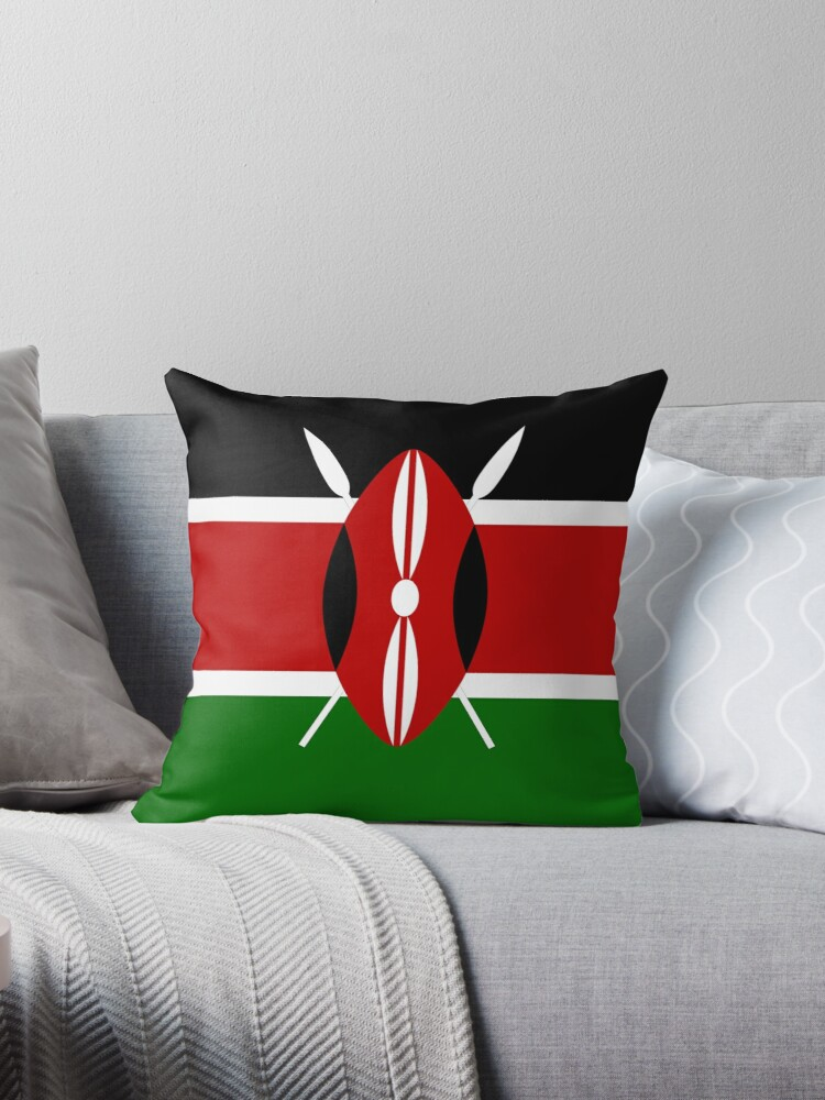 Kenya flag t shirt kenyan nairobi sticker by deanworld