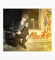 Agust D chilling  Photographic Print