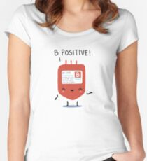 B positive Women's Fitted Scoop T-Shirt
