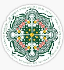Softball Zen mandala Sticker