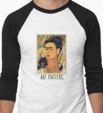 Frida Kahlo Self Portrait  Art Matters Men's Baseball ¾ T-Shirt
