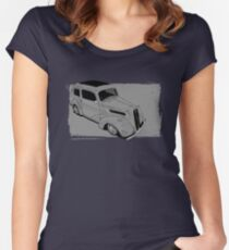 Ford Anglia Hot Rod Women's Fitted Scoop T-Shirt