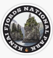 Kenai Fjords National Park circle Sticker