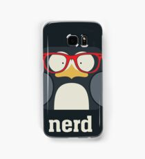 Nerd - Penguin with Geek Glasses - Funny Humor  Samsung Galaxy Case/Skin