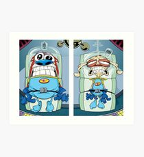 space madness ren and stimpy Art Print