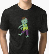 Cute happy zombie boy. Tri-blend T-Shirt