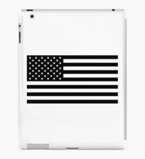 U.S. Flag: Black & White iPad Case/Skin