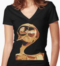 Fear and Loathing in las Vegas Women's Fitted V-Neck T-Shirt