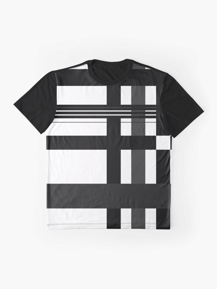 Alternate view of Black n' White plaid Graphic T-Shirt