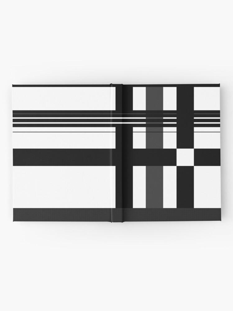Alternate view of Black n' White plaid Hardcover Journal