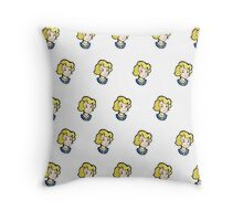Vault Girl Print Throw Pillow
