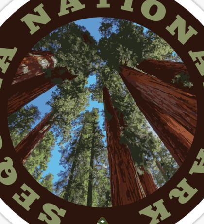Sequoia National Park circle Sticker