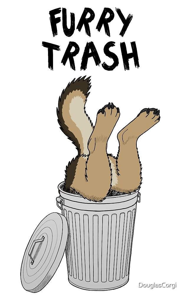 Furry Trash - German Shepherd by DouglasCorgi