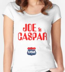 JOE & CASPER HIT THE ROAD 2016 Women's Fitted Scoop T-Shirt
