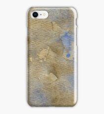 Blue-Brown Watercolor iPhone Case/Skin