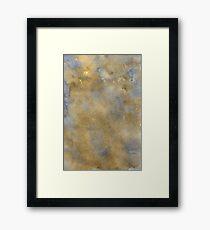 Blue-Brown Watercolor Framed Print