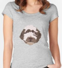 Bentley the Labradoodle Women's Fitted Scoop T-Shirt