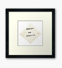 Bartlet for American Napkin Framed Print