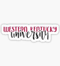 Western Kentucky University - Style 1 Sticker