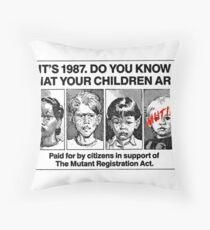 Mutant Advert Throw Pillow