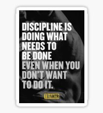 Discipline is doing what needs to be done even when you don't want to do it. Sticker