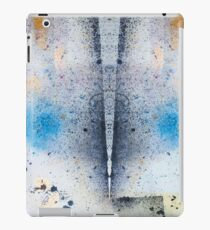 Abstract Unique Graphic ink design in blue and gold iPad Case/Skin