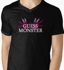 GUESS MONSTER Men's V-Neck T-Shirt