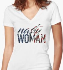 Nasty Woman Women's Fitted V-Neck T-Shirt