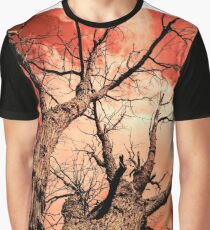 The Reaching - Tree Abstract of Life and Sky Graphic T-Shirt
