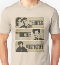 The Hunters, The Doctor and The Detective (Matt Smith version)  Unisex T-Shirt