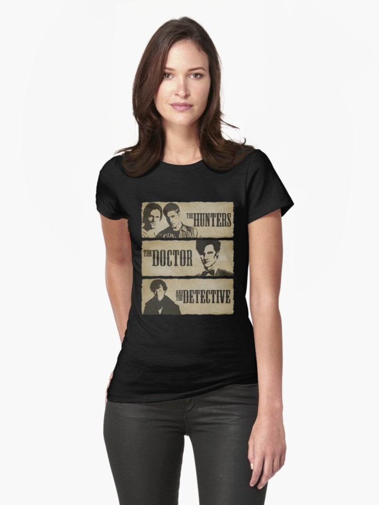 The Hunters, The Doctor and The Detective (Matt Smith version)  Womens T-Shirt Front