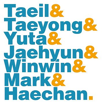 NCT 127 in Helvetica by wolfberry