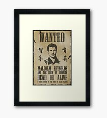 Wanted Captain  Framed Print