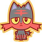 Chibi Litten by DisfiguredStick