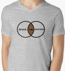 Space Western?  Mens V-Neck T-Shirt