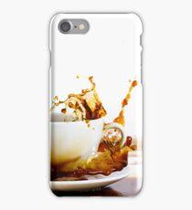 Cup of coffee creating splash iPhone Case/Skin
