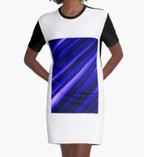 Stock image I created blue stripes Graphic T-Shirt Dress
