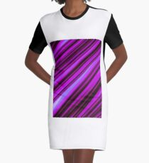 Stock image I created pink stripes Graphic T-Shirt Dress
