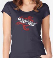 SCUBA DIVE Tribal Sea Turtle  Women's Fitted Scoop T-Shirt