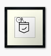 Fixie in the Pocket Framed Print
