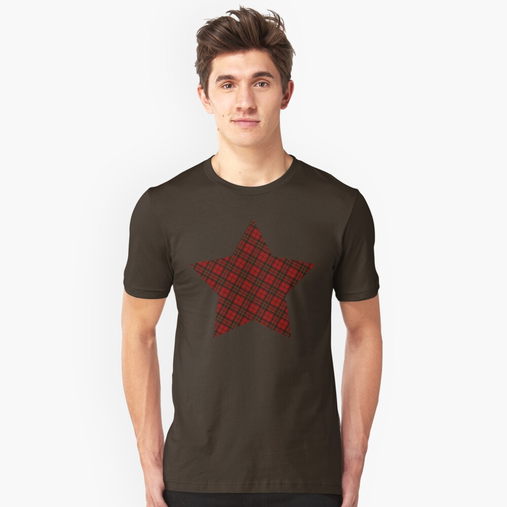 Adorable Red Christmas tartan  Unisex T-Shirt Front